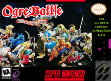Ogre Battle - The March of the Black Queen Nintendo Super NES cover artwork