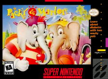 Packy & Marlon Nintendo Super NES cover artwork