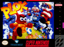 Plok ! Nintendo Super NES cover artwork