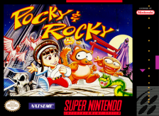 Pocky & Rocky Nintendo Super NES cover artwork
