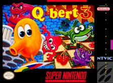 Q-bert 3 Nintendo Super NES cover artwork
