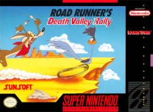 Road Runner's Death Valley Rally Nintendo Super NES cover artwork