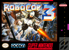 RoboCop 3 Nintendo Super NES cover artwork
