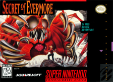 Secret of Evermore Nintendo Super NES cover artwork