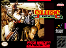 Soldiers of Fortune Nintendo Super NES cover artwork