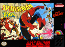 Spider-Man & X-MEN in Arcade's Revenge Nintendo Super NES cover artwork