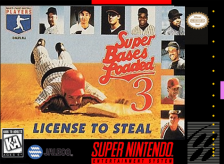 Super Bases Loaded 3 - License to Steal Nintendo Super NES cover artwork