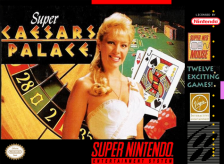 Super Caesars Palace Nintendo Super NES cover artwork