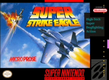Super Strike Eagle Nintendo Super NES cover artwork