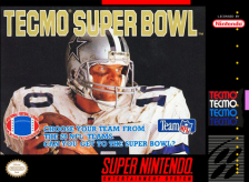 Tecmo Super Bowl Nintendo Super NES cover artwork