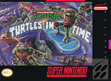 Teenage Mutant Ninja Turtles IV - Turtles in Time Nintendo Super NES cover artwork