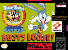 Tiny Toon Adventures - Buster Busts Loose! Nintendo Super NES cover artwork