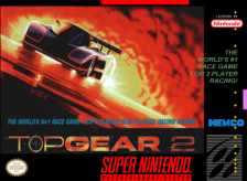 Top Gear 2 Nintendo Super NES cover artwork