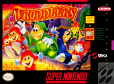 Troddlers Nintendo Super NES cover artwork