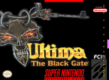Ultima VII - The Black Gate Nintendo Super NES cover artwork