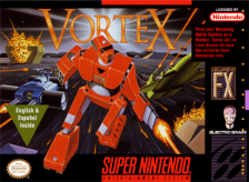 Vortex Nintendo Super NES cover artwork