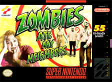 Zombies Ate My Neighbors Nintendo Super NES cover artwork