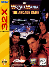 WWF WrestleMania - The Arcade Game Sega 32X cover artwork