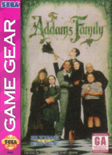 Addams Family, The Sega Game Gear cover artwork