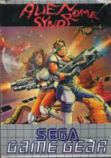 Alien Syndrome Sega Game Gear cover artwork
