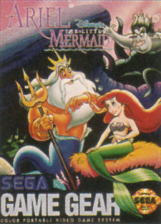 Ariel the Little Mermaid Sega Game Gear cover artwork