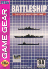 Battleship Sega Game Gear cover artwork