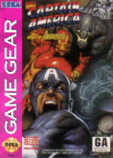 Captain America and the Avengers Sega Game Gear cover artwork