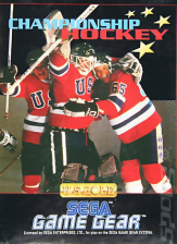 Championship Hockey Sega Game Gear cover artwork