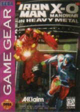 Iron Man X-O Manowar in Heavy Metal Sega Game Gear cover artwork