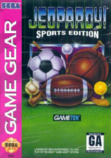 Jeopardy! - Sports Edition Sega Game Gear cover artwork