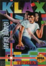 Klax Sega Game Gear cover artwork