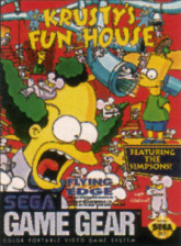 Krusty's Fun House Sega Game Gear cover artwork