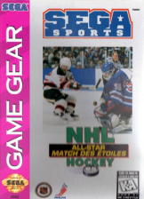 NHL All-Star Hockey Sega Game Gear cover artwork