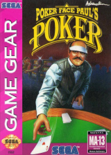 Poker Faced Paul's Poker Sega Game Gear cover artwork