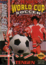 Tengen World Cup Soccer Sega Game Gear cover artwork
