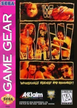 WWF Raw Sega Game Gear cover artwork