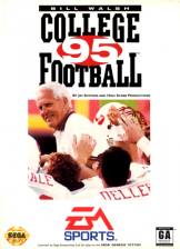 Bill Walsh College Football 95 Sega Genesis cover artwork