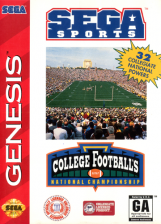 College Football's National Championship Sega Genesis cover artwork