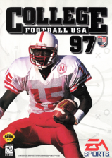 College Football USA 97 Sega Genesis cover artwork