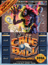Crue Ball - Heavy Metal Pinball Sega Genesis cover artwork