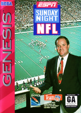 ESPN Sunday Night NFL Sega Genesis cover artwork