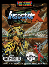 Insector X Sega Genesis cover artwork