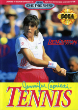 Jennifer Capriati Tennis Sega Genesis cover artwork