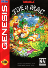 Joe & Mac Sega Genesis cover artwork