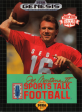 Joe Montana II Sports Talk Football Sega Genesis cover artwork