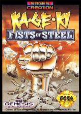 Ka-Ge-Ki - Fists of Steel Sega Genesis cover artwork