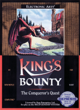 King's Bounty - The Conqueror's Quest Sega Genesis cover artwork