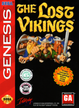 Lost Vikings, The Sega Genesis cover artwork
