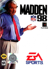 Madden NFL 98 Sega Genesis cover artwork