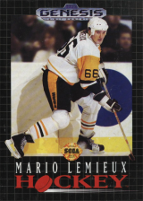 Mario Lemieux Hockey Sega Genesis cover artwork